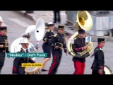 French army orchestra plays Daft Punk's songs during the Bastille day parade (14.7.2017)