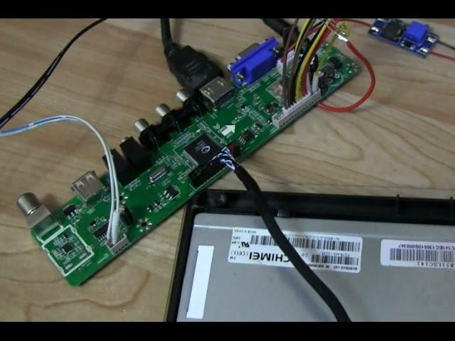 подключение TV скалера к матрице