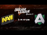Na'Vi vs Alliance  #1 (bo2) | DreamLeague Season 6, 25.10.16