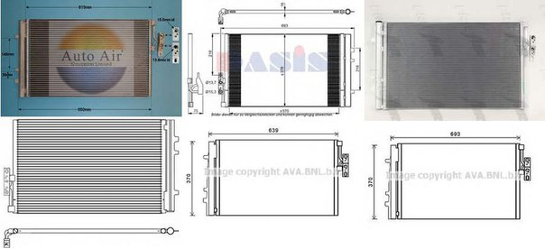 Конденсатор, кондиционер для BMW X3 (F25)