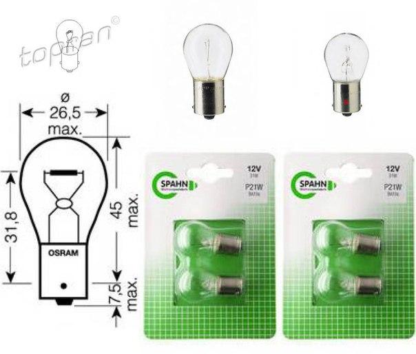 Лампа накаливания, фонарь указателя поворота; Лампа накаливания, основная фара для BMW X3 (F25)