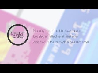 Ароматизаторы в виде Credit Card - Aroma Car