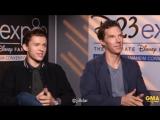 Полное интервью Бенедикта Камбербэтча и Тома Холланда на GMA D23Expo2017