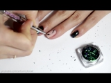 Хлопья Юки - Дизайн ногтей веточка - Маникюр втирка в гель лак