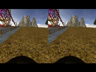 Vr theme park part 2 google cardboard 3d sbs gameplay