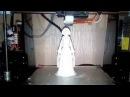 3D принтер печать Снегурочка, на новый год.