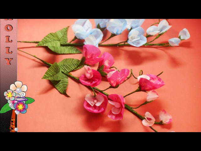 Tissue Paper Flowers Sweet pea