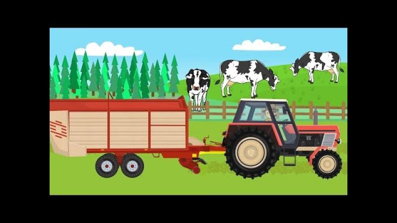 ☻ Farmer   Farm Works - Grass for Cows   Praca Rolnika - Trawa Dla Krów .Bajki ☻