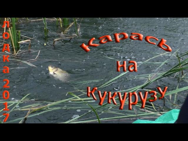 Рыбалка с лодки на поплавок,карась на кукурузу,рыбалка в дождь.