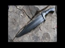 Forging Smithsonian Bowie knife from a semi truck leaf spring.