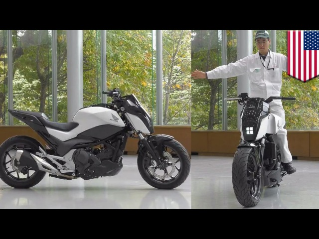 Future motorcycles Honda self-balancing Riding Assist tech keeps bike balanced - TomoNews