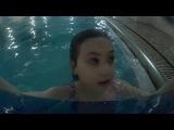 Лера и Лева в бассейне февраль 2017