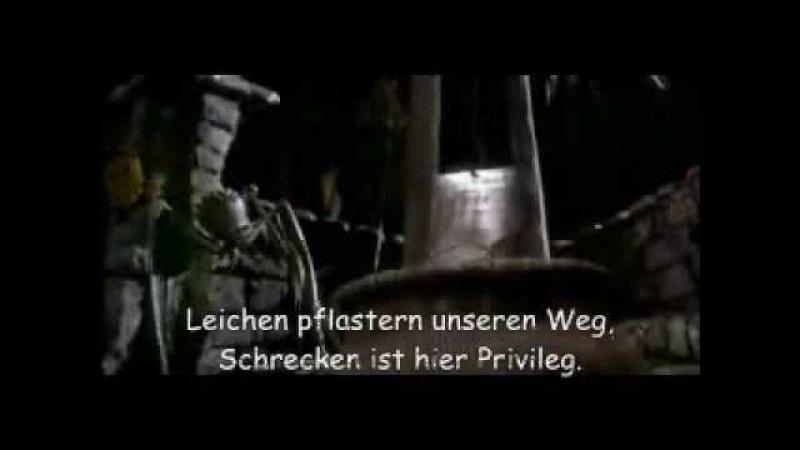 This Is Halloween (German/Deutsch/Allemand/Alemán) Lyrics on screen.