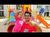 Nail Baba Selin'nin kreşini geziyor. Oyun parkı, trambolin - eğlenceli çocuk videosu Türkçe izle!