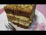 Торт с орехами и карамелью  Рецепт орехового торта  Ciasto z orzechami  i karmelem
