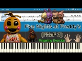 Five Nights at Freddy's 3 - The Living TombStone Fingering Exercise (Piano Tutorial)