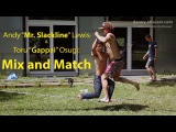 Andy Lewis &amp Gappai new slackline trick 'Mix and Match'!