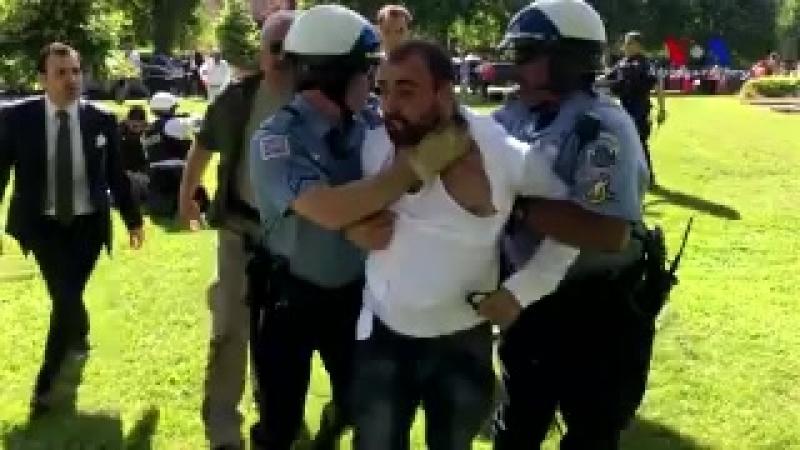 Just Erdogan's bodyguards beating up Americans in Washington D C