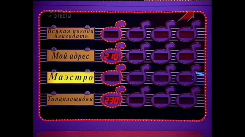[staroetv.su] Угадай мелодию 47 (ОРТ, 1997) Андрей Клименов, Марина Носенко, Алексей Вавилов