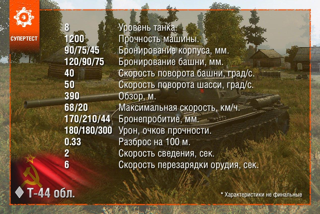 Т-44 обл. (облегченный) выкатили на СУПЕРТЕСТ!