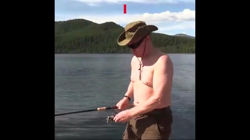 Putin - Dildo fishing