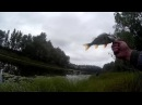 Джиг с берега на Шестовитцком земснаряде подкова.Трудовая рыбалка в крутой пер...