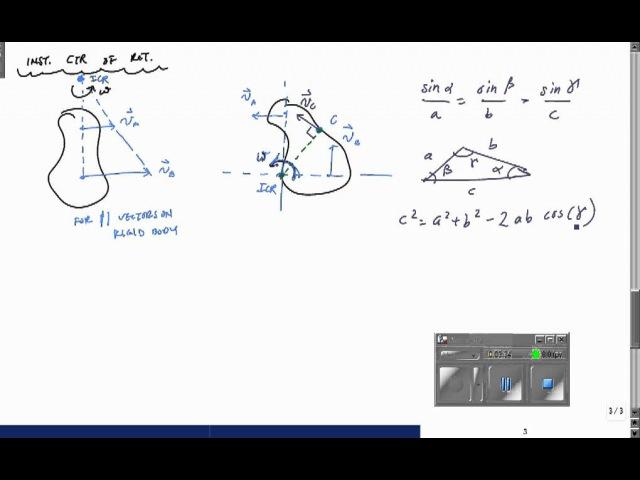 Мгновенный центр скоростей Instantaneous Center of Rotation (Part 1) - Engineering Dynamics