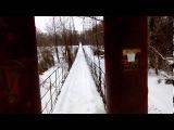 п. Стрелица, Семилукский район. Самый большой подвесной мост в Черноземье 273 метра