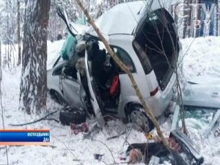 Очевидцы сняла на видео смертельную аварию под Колодищами