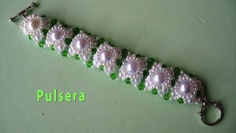 DIY - Pulsera de perlas para una fiesta DIY - Pearl Bracelet for a party