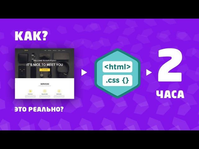 Верстка HTML CSS За 2 Часа. Из PSD. С Нуля. Полная Запись.