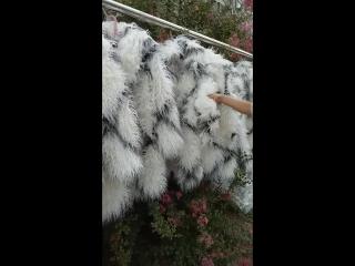 men shaggy faux fur coat