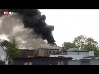 Пожар в бывшем доме культуры в Петербурге