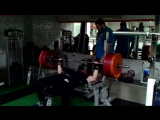 Bench press 150 kg x 7 reps