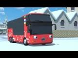 Приключения Тайо, 25 серия. Тайо и первый снег. Мультики про автобусы и машинки