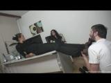 Foot Fetish Office Фут-фетиш #massage #feet #nylon #femdom #slave #trampling #sniff