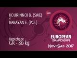 Repechage GR - 80 kg: E. BABAYAN (POL) df. B. KOURINNOI (SWE), 4-1