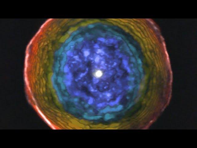 «Пылающее око» древней звезды