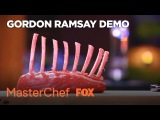 Gordon Ramsay Demonstrates How To French Trim A Rack Of Lamb Season 8 Ep. 6 MASTERCHEF