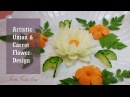 Artistic Onion Carrot Flower Design - How To Make Carrot Onion Flower Carving Garnish