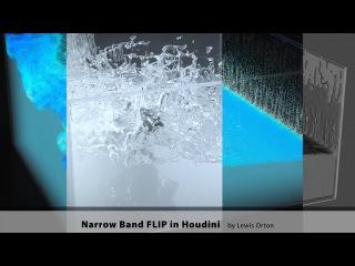 Narrow Band FLIP in Houdini