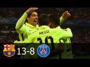 FC Barcelona vs PSG 13-8 All Goals in UCL 2012-2015 HD 720p