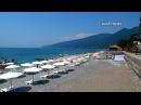 Гагра Абхазия Пляж рынок и нападение на туриста
