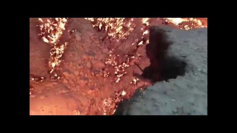 Туркмения, Газовый кратер Дарваза Derweze в пустыне Каракумы