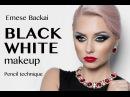 BLACKWHITE OMBRÉ-ARABIC MAKEUP BY EMESE BACKAI MAKEUP TRAINER