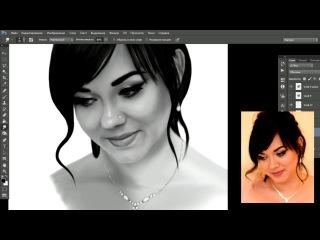 Портрет девушки | Переписка | Рисунок в Adobe Photoshop