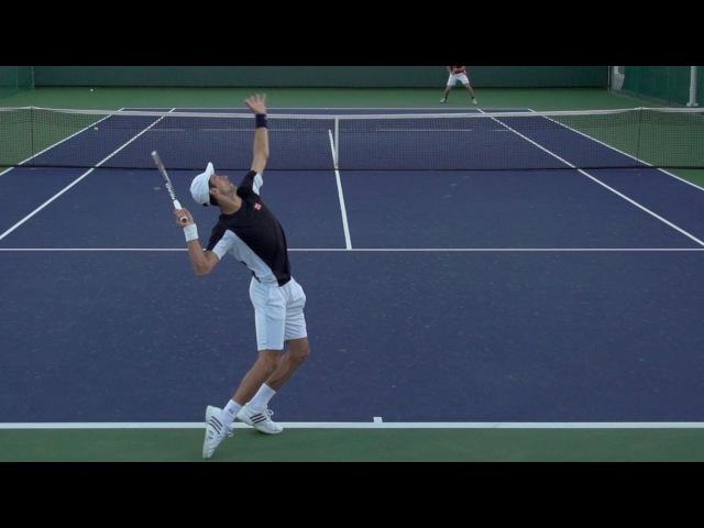 Novak Djokovic Serve In Super Slow Motion 3 - Indian Wells 2013 - BNP Paribas Open