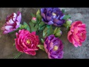 How To Make A Paper Peony With Frosted Paper