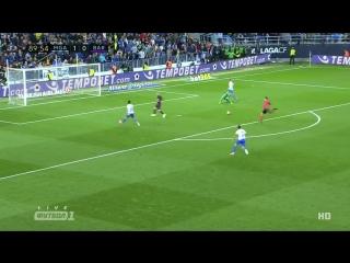 Малага 2:0 Барселона | Гол Хони