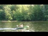 Катаюсь на своей моторной ПВХ лодке  по Москве-реке!
